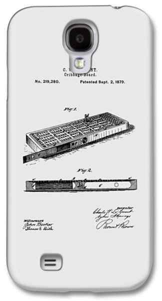 Cribbage Board 1879 Patent Art Transparent Galaxy S4 Case