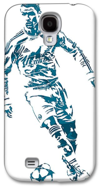 Cristiano Ronaldo Real Madrid Pixel Art 1 Galaxy S4 Case