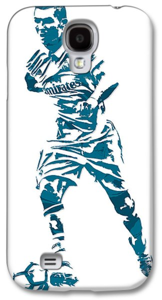Cristiano Ronaldo Real Madrid Pixel Art 3 Galaxy S4 Case