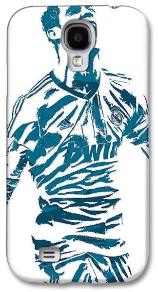 Cristiano Ronaldo Real Madrid Pixel Art 4 Galaxy S4 Case