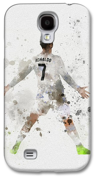 Cristiano Ronaldo Galaxy S4 Case by Rebecca Jenkins