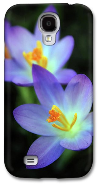 Galaxy S4 Case featuring the photograph Crocus In Bloom by Jessica Jenney