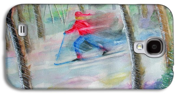 Cross Country Ski Galaxy S4 Case by Robert P Hedden