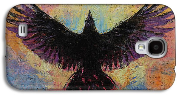 Crow Galaxy S4 Case by Michael Creese