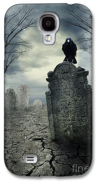 Crow On The Tombstone Galaxy S4 Case