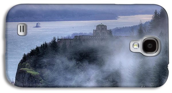 River View Galaxy S4 Cases - Crown Point Vista House Fog Columbia River Gorge Oregon Galaxy S4 Case by Dustin K Ryan