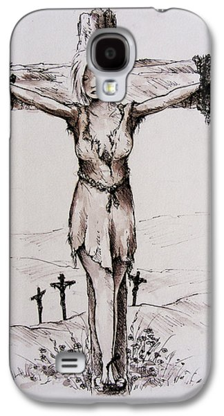 Crucified With Christ Galaxy S4 Case by Rachel Christine Nowicki