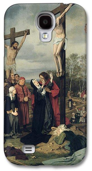 Crucifixion Galaxy S4 Case by Eduard Karl Franz von Gebhardt