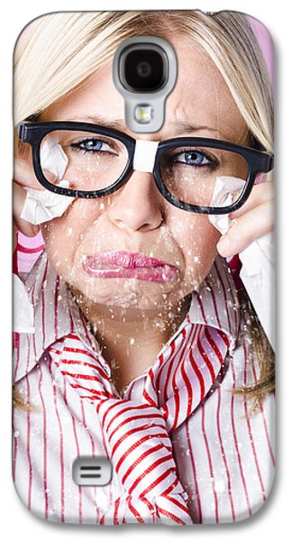 Cry Baby Businesswoman Crying A Waterfall Of Tears Galaxy S4 Case by Jorgo Photography - Wall Art Gallery