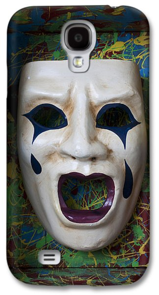 Crying Mask In Box Galaxy S4 Case by Garry Gay