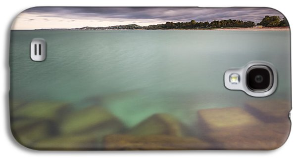 Galaxy S4 Case featuring the photograph Crystal Clear Lake Michigan Waters by Adam Romanowicz