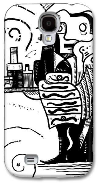 Cubist Waiter Galaxy S4 Case by Sotuland Art