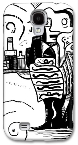 Cubist Waiter Galaxy S4 Case