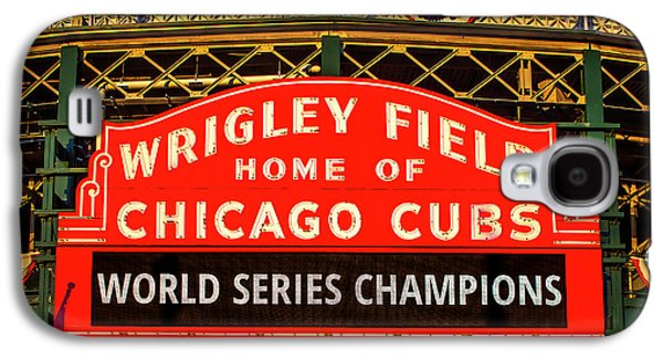 Cubs Win World Series Galaxy S4 Case by Andrew Soundarajan