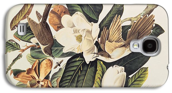 Cuckoo On Magnolia Grandiflora Galaxy S4 Case by John James Audubon