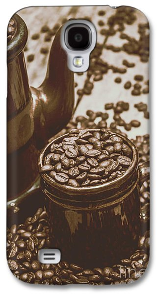 Cup And Teapot Filled With Roasted Coffee Beans Galaxy S4 Case by Jorgo Photography - Wall Art Gallery
