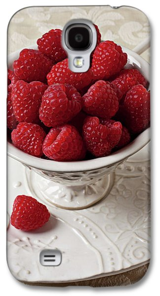 Cup Full Of Raspberries  Galaxy S4 Case by Garry Gay