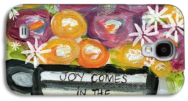 Cup Of Joy 2- Contemporary Floral Painting Galaxy S4 Case by Linda Woods