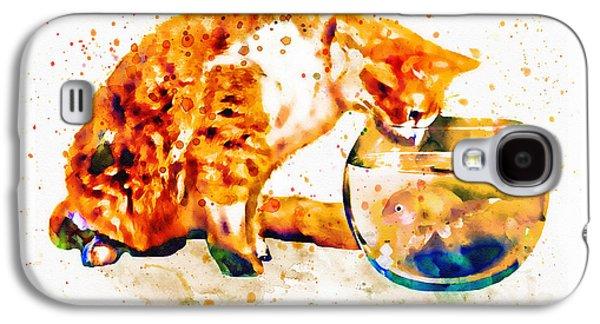 Curious Cat  Galaxy S4 Case by Marian Voicu