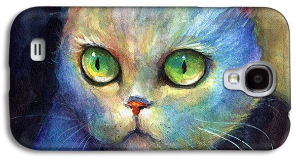 Curious Kitten Watercolor Painting  Galaxy S4 Case by Svetlana Novikova