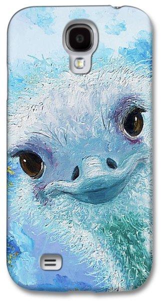 Curious Ostrich Galaxy S4 Case by Jan Matson