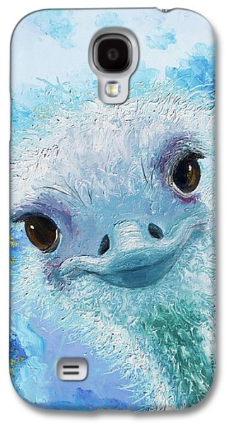 Curious Ostrich Galaxy S4 Case by Jan Matson