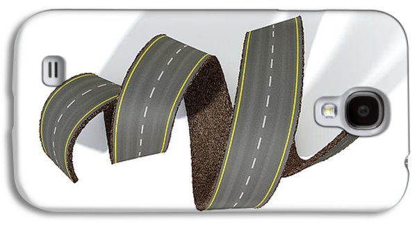 Curled Road Galaxy S4 Case by Allan Swart