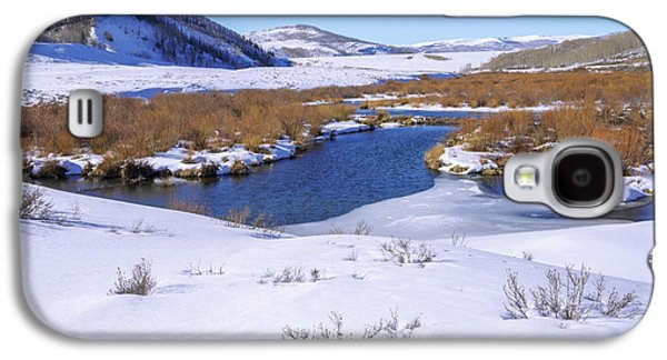 Currant Creek On Ice Galaxy S4 Case by Chad Dutson