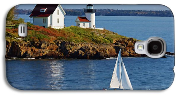 Bouys Galaxy S4 Cases - Curtis Island Lighthouse - D002652b Galaxy S4 Case by Daniel Dempster