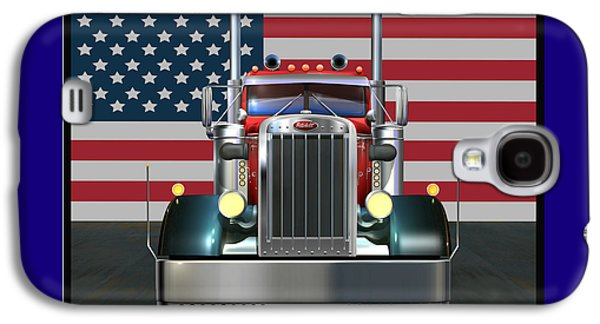 Custom Peterbilt 2 Galaxy S4 Case by Stuart Swartz