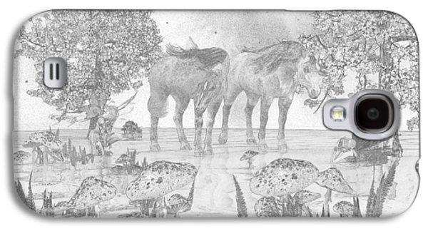 Custom Sketch 47 Galaxy S4 Case by Betsy Knapp
