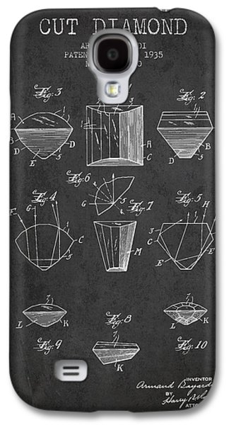 Cut Diamond Patent From 1935 - Charcoal Galaxy S4 Case by Aged Pixel