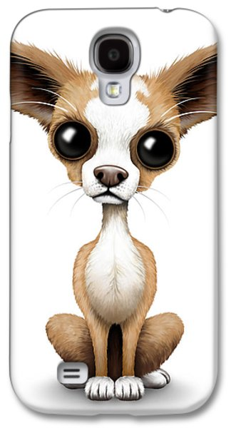 Cute Chihuahua Puppy  Galaxy S4 Case by Jeff Bartels