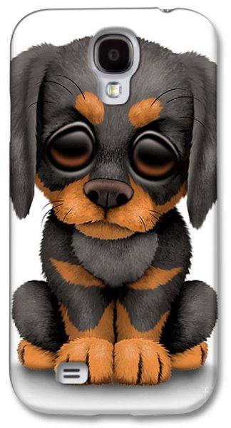 Cute Doberman Puppy Dog Galaxy S4 Case by Jeff Bartels