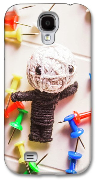Cute Doll Made From Yarn Surrounded By Pins Galaxy S4 Case by Jorgo Photography - Wall Art Gallery