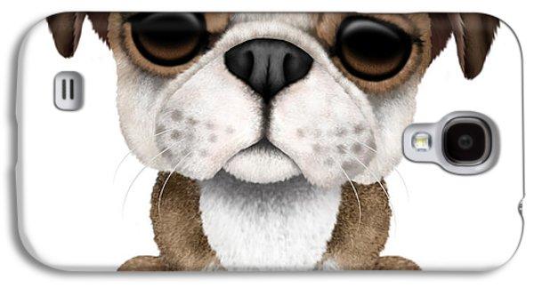 Cute English Bulldog Puppy  Galaxy S4 Case