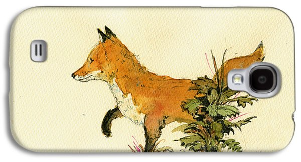 Cute Fox In The Forest Galaxy S4 Case by Juan  Bosco