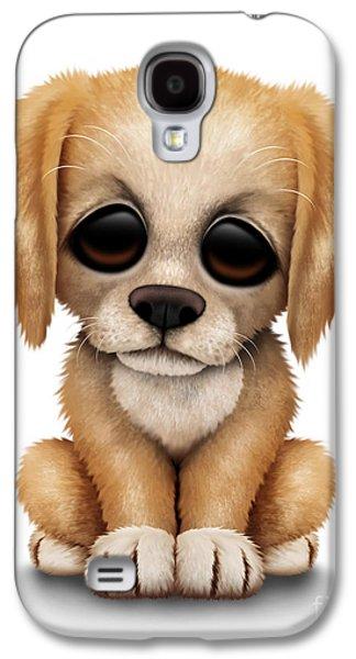 Cute Golden Retriever Puppy Dog Galaxy S4 Case