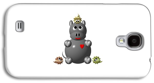 Cute Hippo With Hamsters Galaxy S4 Case
