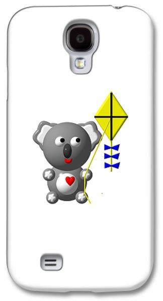 Cute Koala With Kite Galaxy S4 Case by Rose Santuci-Sofranko