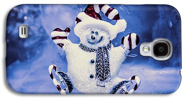Cute Snowman In Ice Skates Galaxy S4 Case by Jorgo Photography - Wall Art Gallery