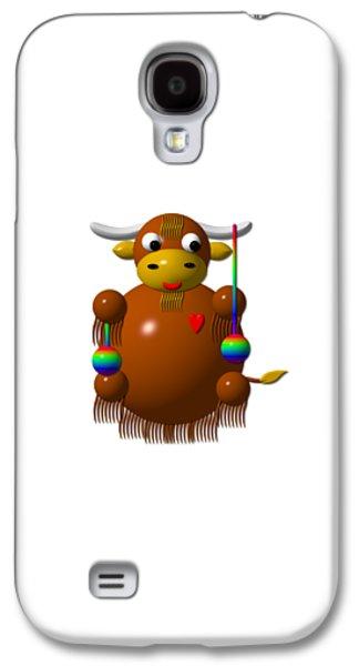 Cute Yak With Yo Yos Galaxy S4 Case