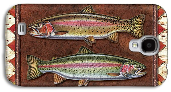 Rainbow Trout Galaxy S4 Cases - Cutthroat and Rainbow Trout Lodge Galaxy S4 Case by JQ Licensing