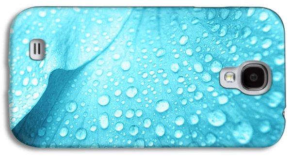 Aqua Droplets Galaxy S4 Case by Sean Davey