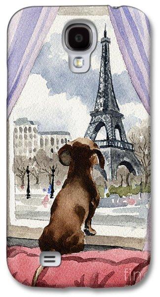 Dachshund In Paris Galaxy S4 Case