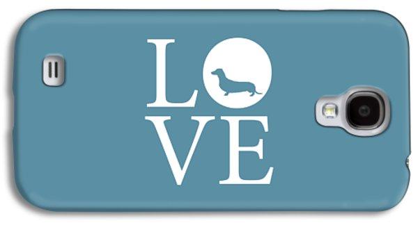 Dachshund Love Galaxy S4 Case by Nancy Ingersoll