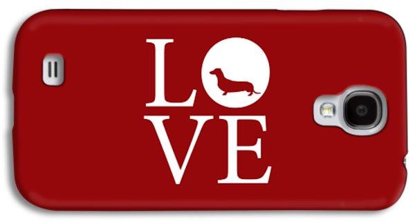 Dachshund Love Red Galaxy S4 Case by Nancy Ingersoll