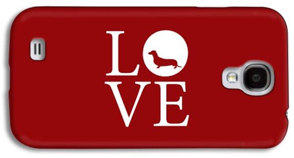 Dachshund Love Red Galaxy S4 Case
