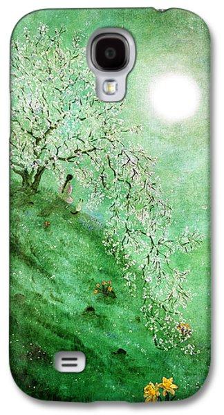 Cherry Blossoms Digital Art Galaxy S4 Cases - Daffodil Dream Meditation Galaxy S4 Case by Laura Iverson