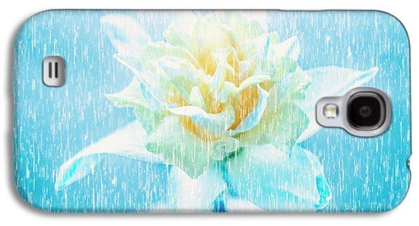 Daffodil Flower In Rain. Digital Art Galaxy S4 Case